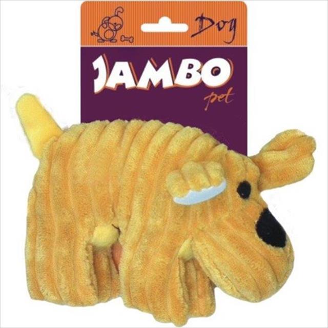 brinquedo jambo cachorro de veludo - amarelo