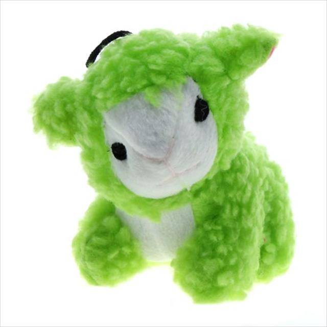 brinquedo jambo mordedor pelúcia ovelha baa - verde