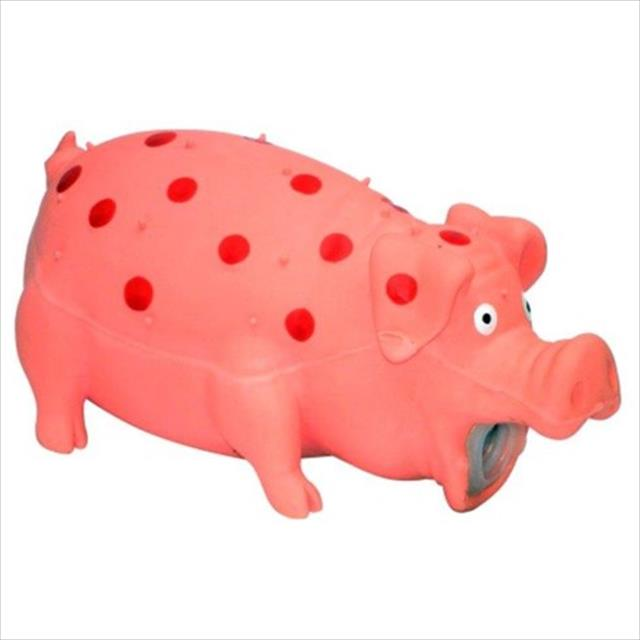 brinquedo jambo porco de látex - rosa