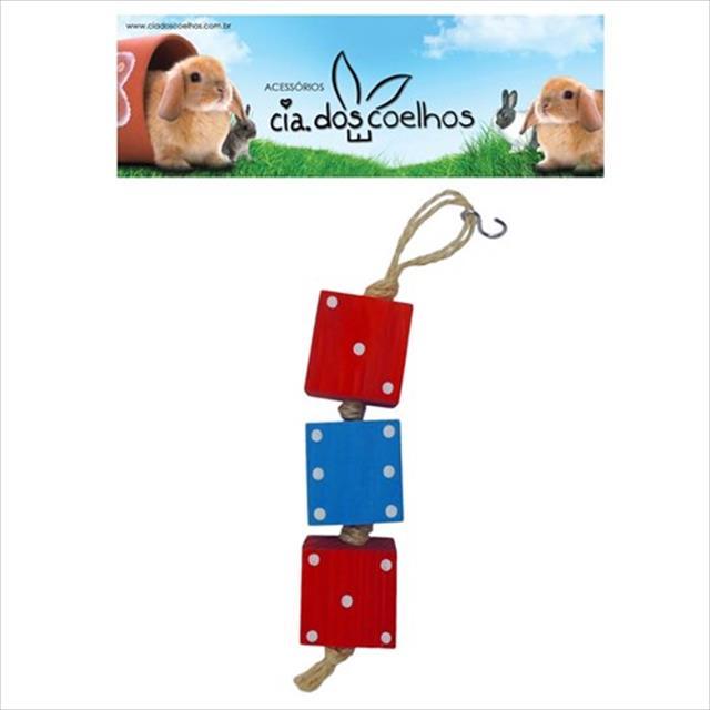 brinquedo mobile de dados - vermelho com azul