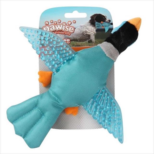 brinquedo pássaro pawise de nylon e borracha com apito - azul brinquedo pássaro pawise de nylon e borracha com apito azul - tam p