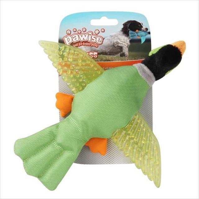 brinquedo pássaro pawise de nylon e borracha com apito - verde brinquedo pássaro pawise de nylon e borracha com apito verde - tam g