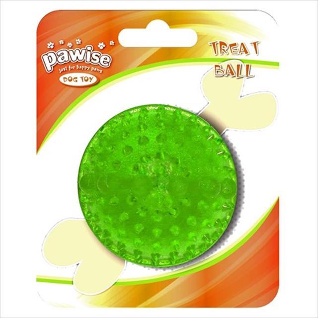 brinquedo pawise bola de borracha com dispenser para petisco - verde brinquedo pawise bola de borracha verde com dispenser para petisco - pequeno