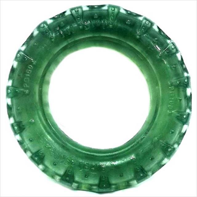 brinquedo pneu off-road dog pvc flex - verde brinquedo pneu off-road dog pvc flex verde - tam m