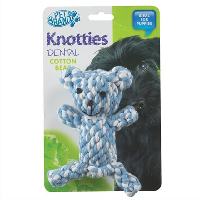 brinquedo ursinho de corda knottie - azul