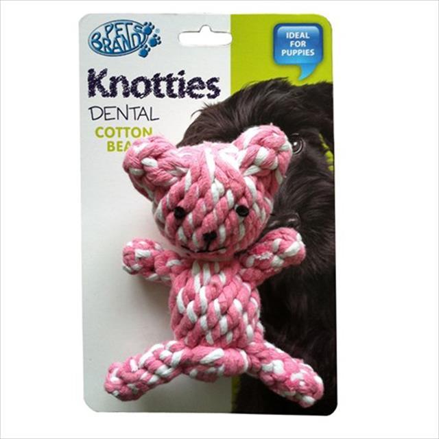 brinquedo ursinho de corda knottie - rosa
