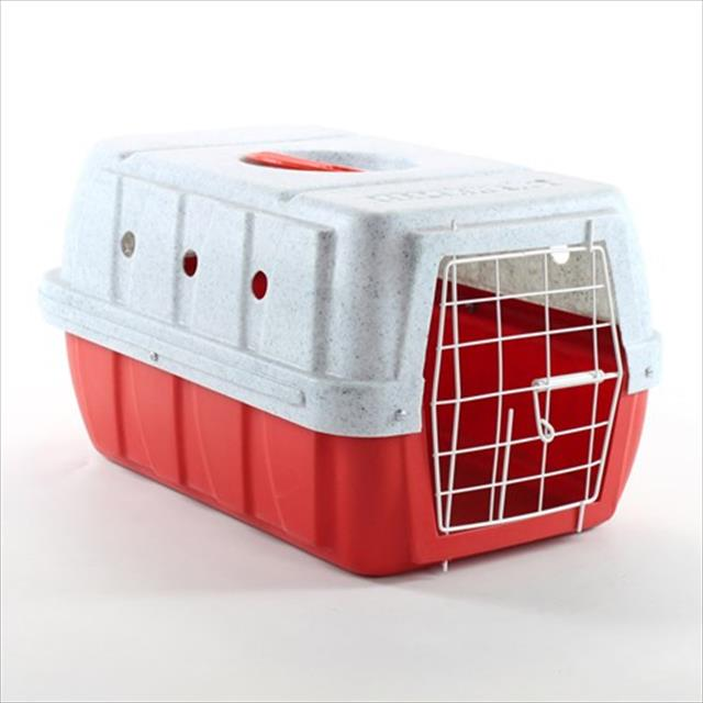 caixa de transporte clicknew - vermelho com mármore caixa de transporte clicknew vermelho com mármore - n. 01