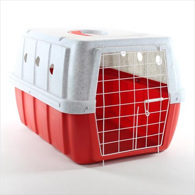 caixa de transporte clicknew - vermelho com mármore caixa de transporte clicknew vermelho com mármore - n. 02