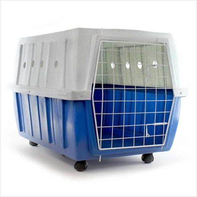 caixa de transporte clicknew com rodas - azul com mármore caixa de transporte clicknew com rodas azul com mármore - n. 05