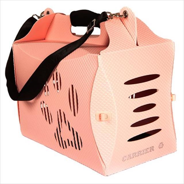 caixa de transporte mundo gaia eco house - rosa
