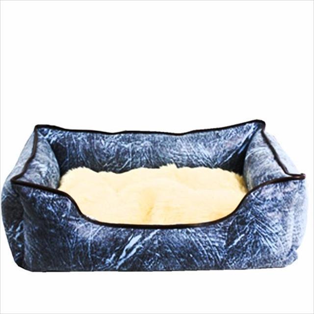cama belga chalesco azul - tamanho m