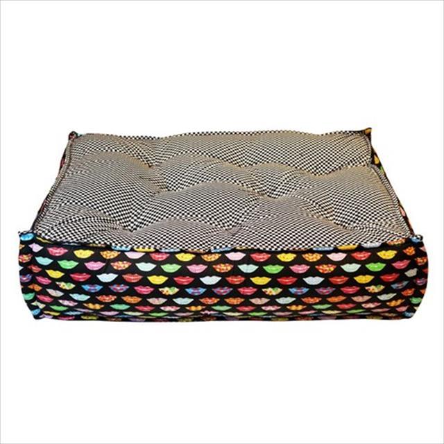 cama futon dog quadrada kiss