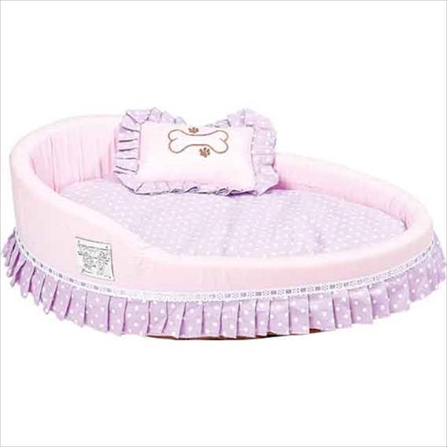 cama imperatriz lilás com rosa