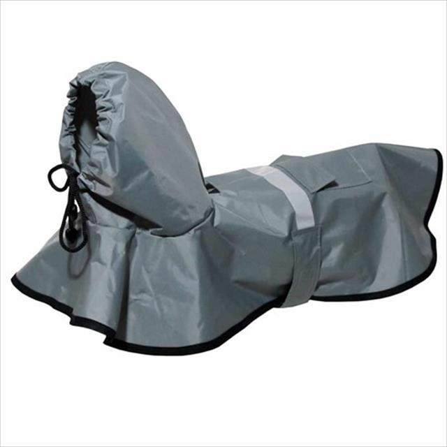 capa de chuva cinza - futon dog capa de chuva cinza - tam m