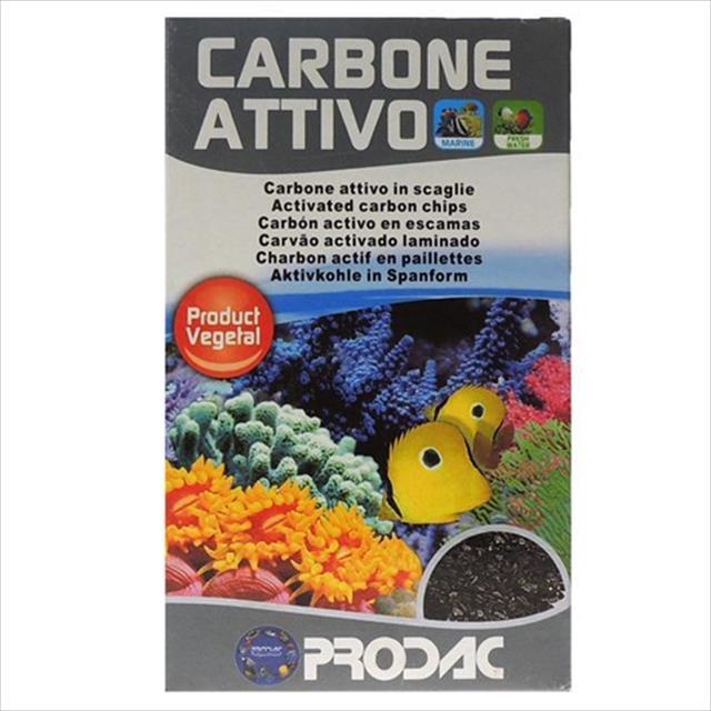carvão vegetal prodac carbone ativo - 250gr