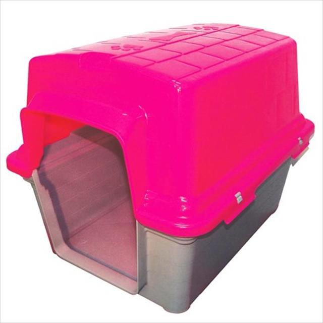 casa furacão pet de plástico - rosa casa furacão pet de plástico rosa - tam. 4