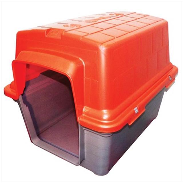 casa furacão pet de plástico - vermelho casa furacão pet de plástico vermelho - tam. 2