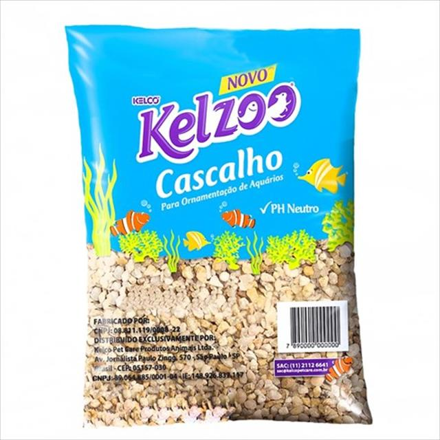 cascalho para aquário kelzoo cascalho  para aquário kelzoo - 5 kg