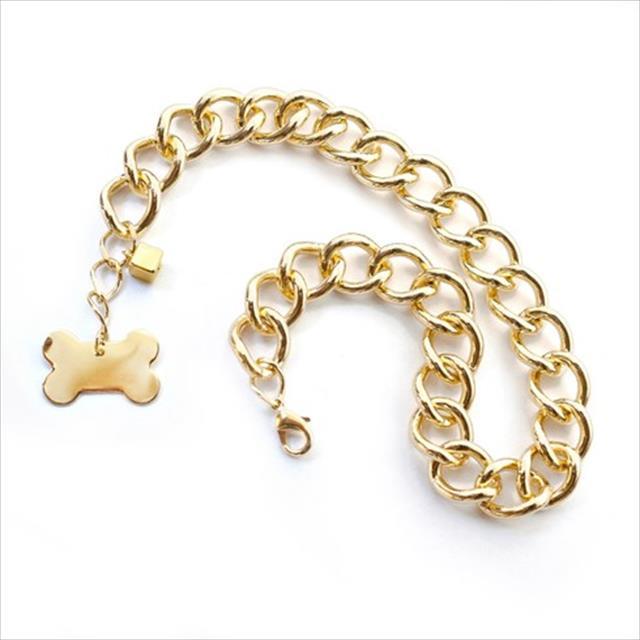 colar masculino dourado - tam p