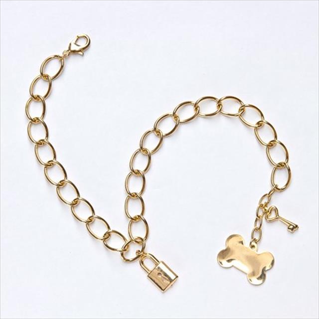 colar masculino dourado - tam m