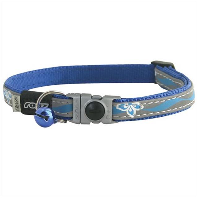 colar rogz nightcat para gatos - azul