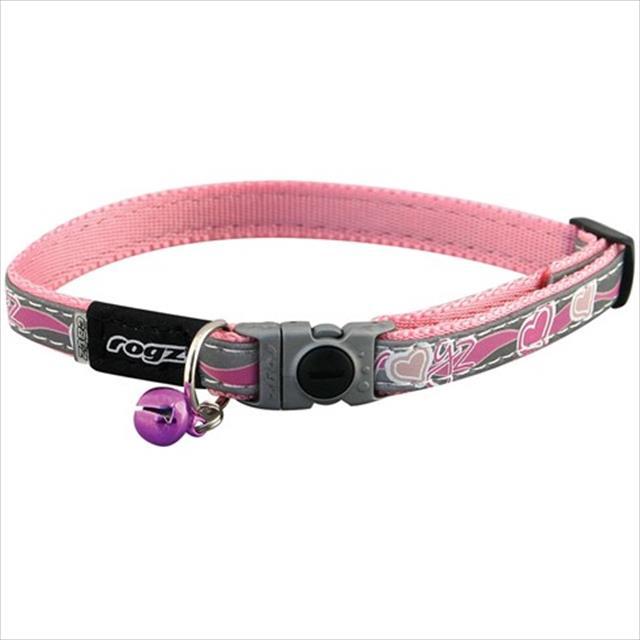 colar rogz nightcat para gatos - rosa