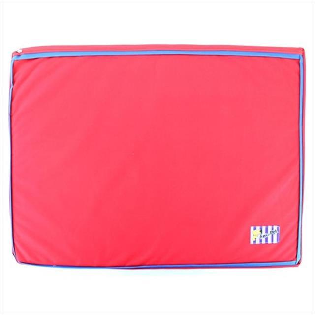 colchão impermeável - vermelho colchão impermeável vermelho - tam g