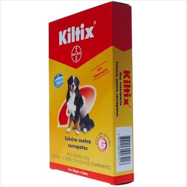 coleira anti carrapatos bayer kiltix - média 48cm