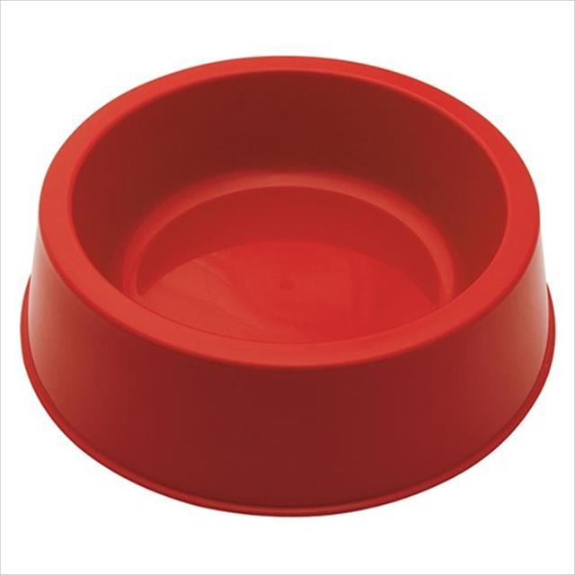 comedouro baw waw de plástico - vermelho comedouro baw waw de plástico vermelho - tam m