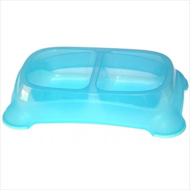 comedouro jambo duplo de plástico - azul comedouro jambo duplo de plástico azul - 2 x 650ml