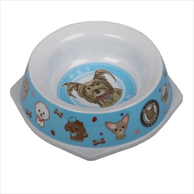 comedouro melamina pet bowl azul - 500ml