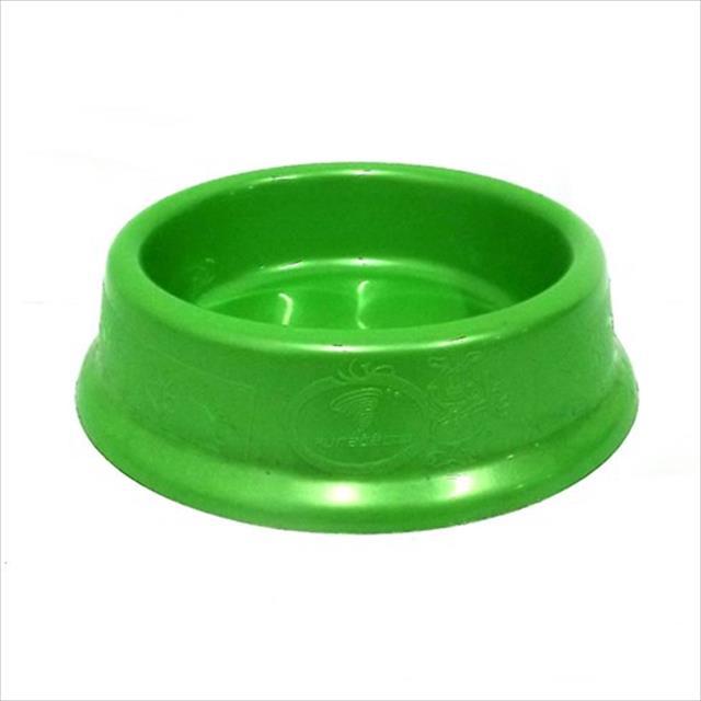 comedouro plástico gato 200ml - verde