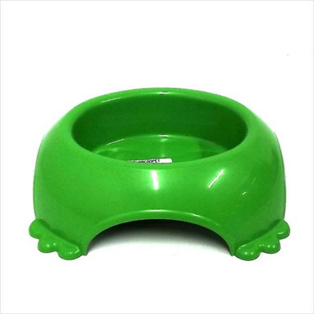 comedouro plástico pata furacão pet - verde comedouro plástico pata verde furacão pet - 490ml