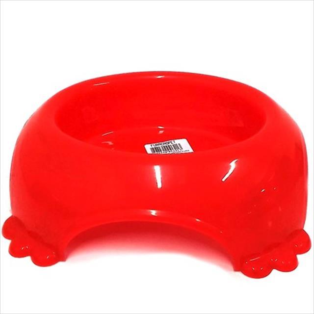 comedouro plástico pata furacão pet - vermelho comedouro plástico pata vermelho furacão pet - 490ml