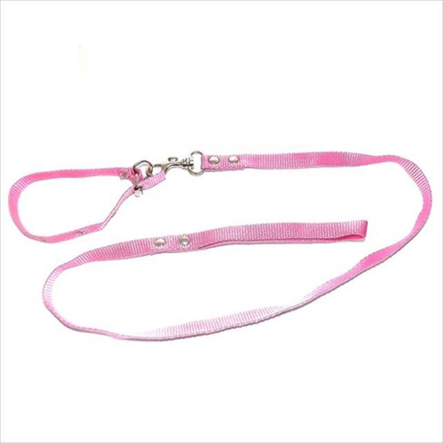 conjunto guia de seda com coleira furacão pet - rosa conjunto guia de seda fina com coleira rosa - 15mm