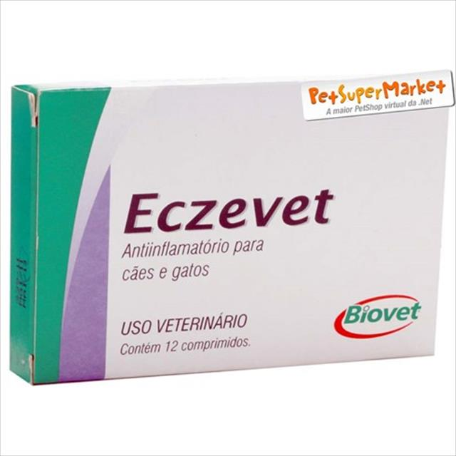 eczevet caixa com 12 comprimidos