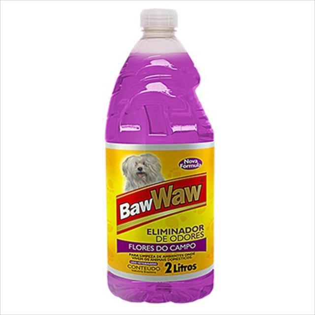 eliminador de odores baw waw - flores do campo eliminador de odores baw waw  flores do campo - 2 litros