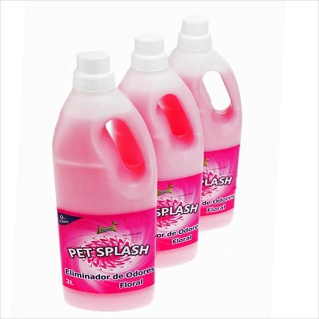 eliminador de odores petmais splash floral 2 litros - compre 2 e leve 3