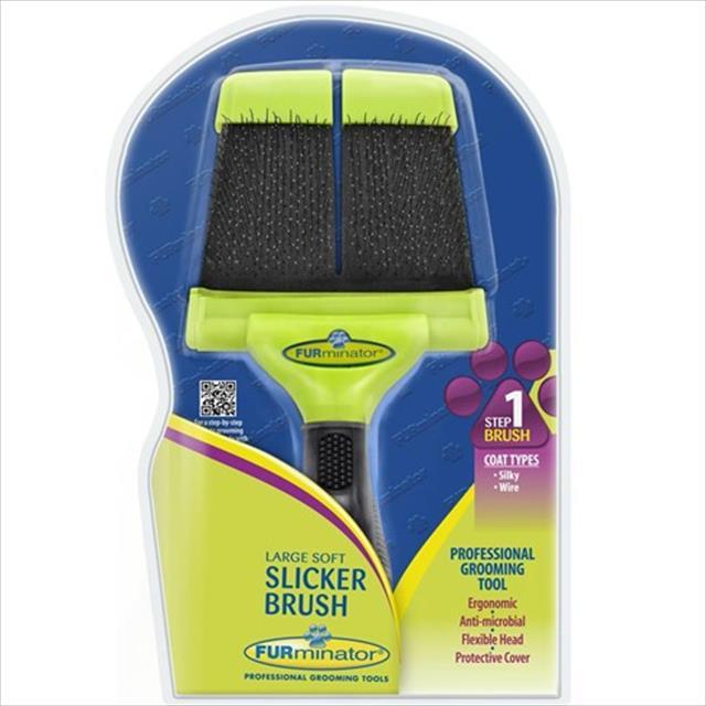 escova furminator dupla macia grooming slicker - grande