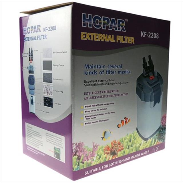filtro hopar canister biológico externo 1200 litros/hora kf-2218 - 220v