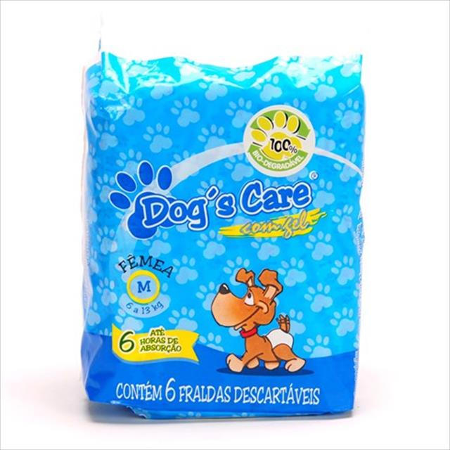 fralda dogs care para fêmeas - pacote de 6 unidades fralda dogs care para fêmeas - tam m