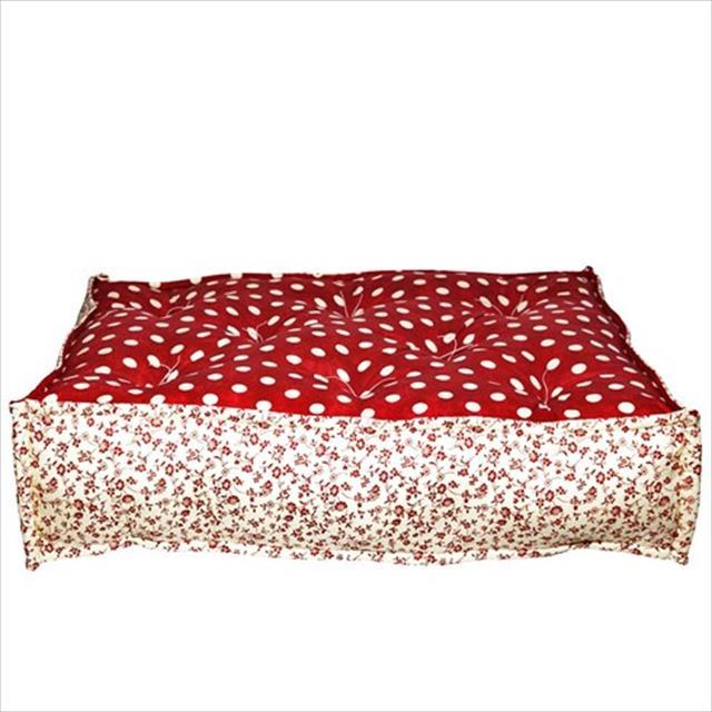 futon turco - poa vermelho futon turco poa vermelho - tam gg