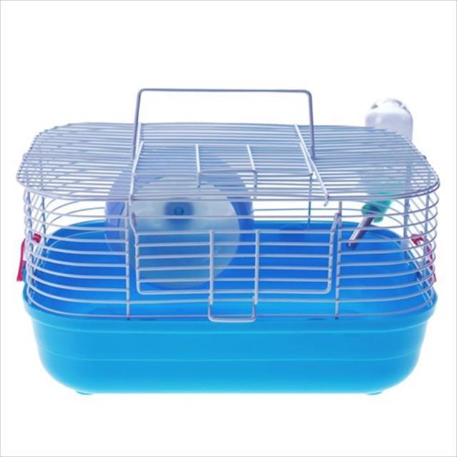 gaiola hamster completa pop star caninos brancos - azul