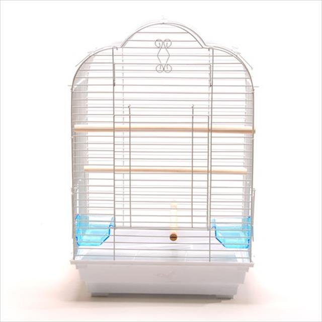 gaiola para papagaio e calopsita american pets - branco