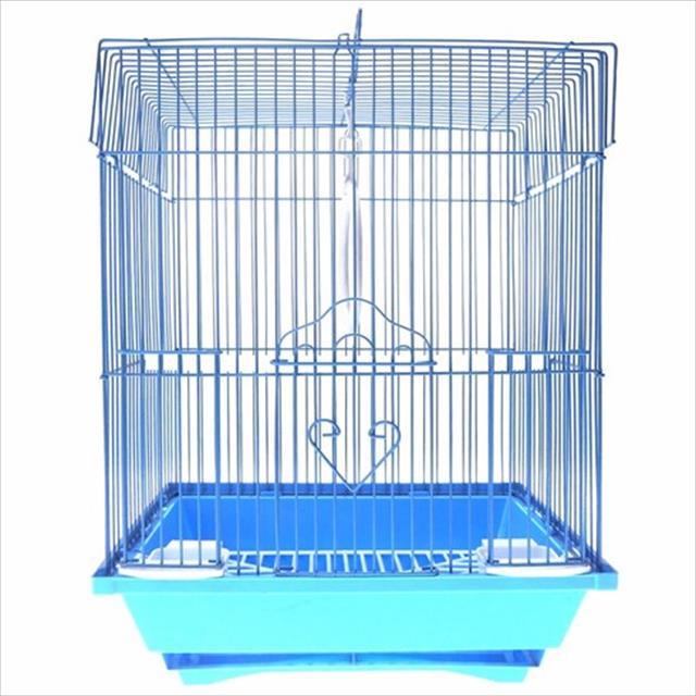 gaiola para pássaros modelo 03 quadrada caninos brancos gaiola para passaros modelo 03 quadrada caninos brancos - azul