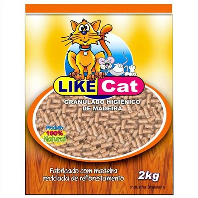 granulado higiênico like cat de madeira - 10 kg