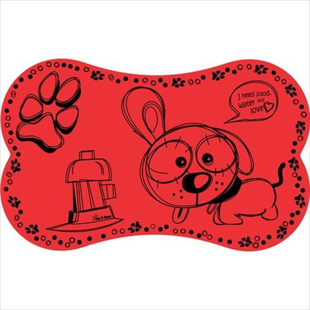 jogo americano eva dog - vermelho