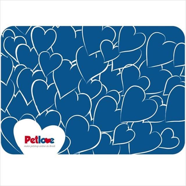 jogo americano pet love - azul escuro