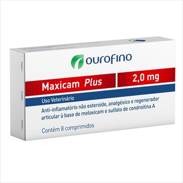 maxicam plus ourofino - 8 comprimidos maxicam plus ourofino - 2,0mg