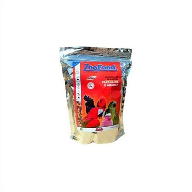 mistura de sementes com aminomix para papagaio e arara - 1kg